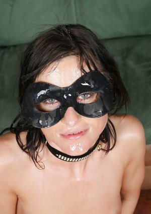 Horny as fuck masked babe Cecilia Vega is being double penetrated