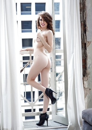 Playboy model Caitlin McSwain demonstrates her sweet big booty