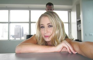 Alluring blonde teen Mandy Armani is being fucked in her muff