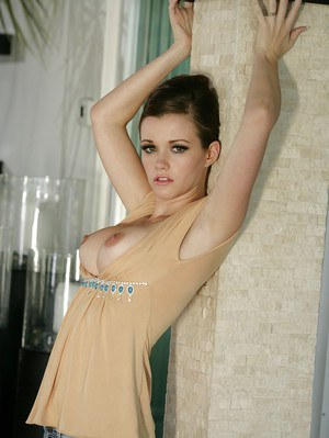 All-natural babe Raven Alexis slowly undressing and posing naked