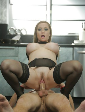 Stunning pornstar milf Aiden Starr is playing with her bf's dick
