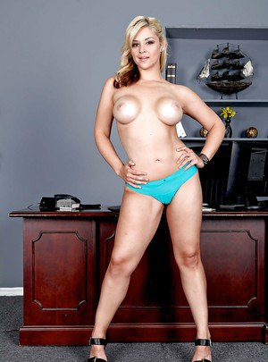 Intricate milf Sarah Vandella does frisky things in the office room