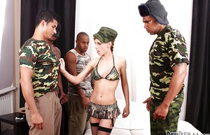 Interracial gangbang is a perfect entertainment for Olga Barz