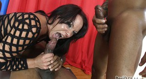 Slutty Lora B is fucked hard during interracial gangbang party