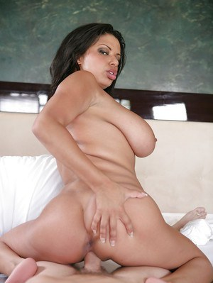 Ebony milf Alexis Silver with saggy huge breasts is giving a blowjob