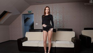 With her every move Euro babe Linda Luv mesmerizes you and your dick