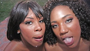 Big cocks please ebony Milfs Vanessa and Daiquri during groupsex