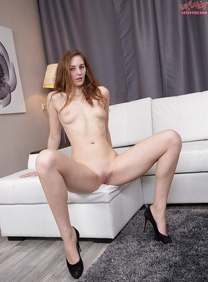 European doll Irina Pavlova looking sexy fully clothed and stripping