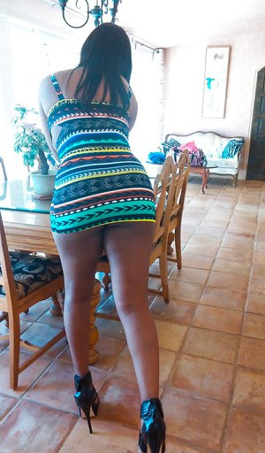No matter where she goes Lisa Tiffian's ebony ass looks delicious