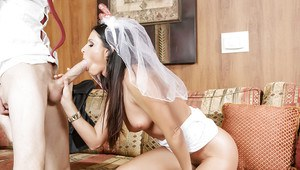 Milf India Summer blows a big cock and 69 on her wedding day