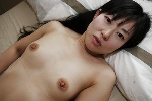 Asian babe Ayane Ikeuchi spreading pussy in uniform and pantyhose