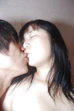 Asian milf Shinobu Kawahara shares a sexy bath with her horny lover