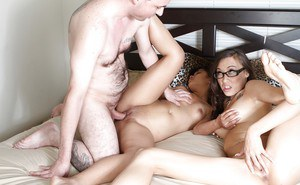 Horny guy has an awesome threesome with Asian babes Ariel C. and Nissy