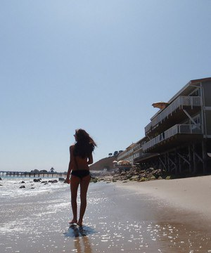 Enticing amateur teen Whitney has some fun at the beach with her man