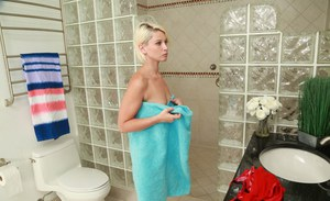 Even bathing can be an erotic activity with blonde chick Dani Desire