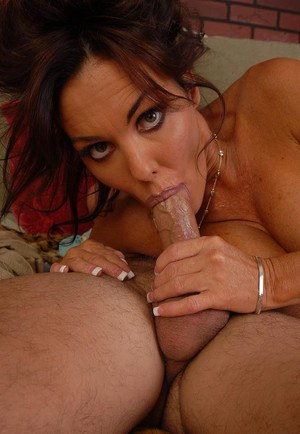 Pregnant woman Nancy is ready to suck and fuck some hard cock