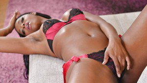 Beautiful ebony MILF Jasmine Webb shows off her delicious sexy body