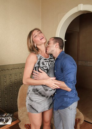 Pregnant blonde amateur Rita Rush getting ass fucked doggystyle