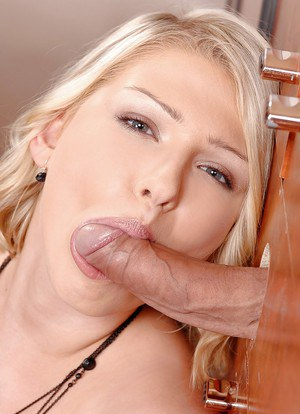 Hot blonde girl Lucy Heart sicking off a cock down at the local gloryhole