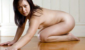 Pretty Asian amateur Chantelle K gives close up look at hairy pussy
