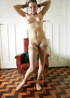 First timer Jemma posing nude young girl body in pantyhose