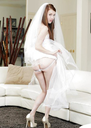 Pornstar Misha Cross spreads just married legs for shaved pussy fingering