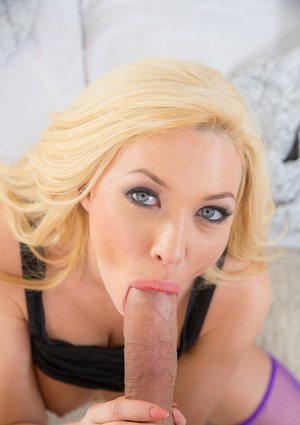 POV cock sucking and cum swallowing by Summer Brielle Taylor