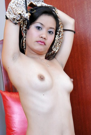 Charming Asian amateur Joana stripping and spreading in high heels