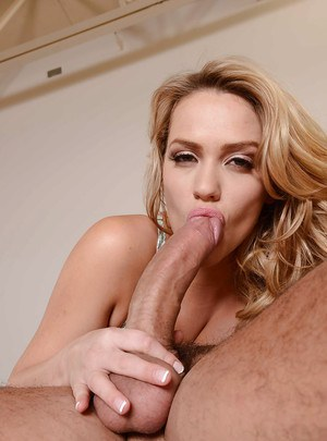 Blonde pornstar Mia Malkova fingers pussy before being penetrated by cock