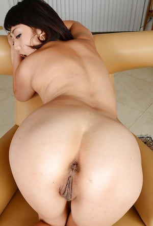 Amateur Asian girl Miko Dai baring small tits and stretched cunt