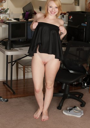 Trillium takes off her school gril outfit and shows off her sexy booty