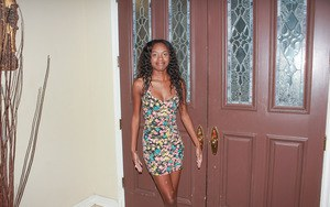 Armani Monae shows off her amazing body under that sexy dress