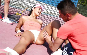 Ana Rose is quite the little slut that loves getting fucked outdoors