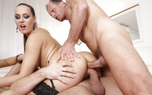 Nice groupsex compliments of Mea Melone Victoria Daniels and Laura Crystal