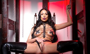Top rated fetish babe Anissa Kate awaits you in thigh high latex boots