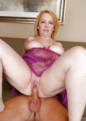 Chesty older woman Brandie Sweet tit fucking cock before sexual intercourse
