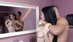 Teen beauty Noelle Easton and her big naturals spend time at the gloryhole