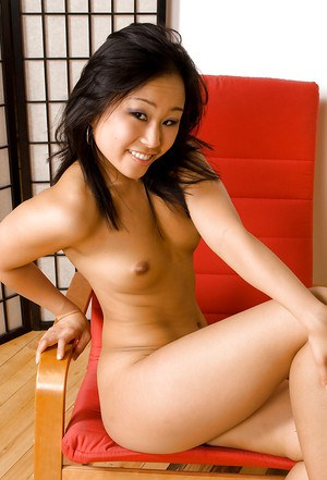 Sexy Asian chick Bella and her small breasts modelling topless