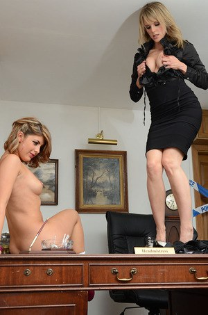 Older and younger blondes Lizzie Gibson and Headmistress Mackenzie