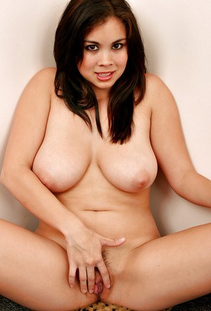 Pretty Asian first timer Mai posing topless in ripped denim jeans