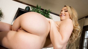 Solo girl Mia Malkova spreading hairy pussy in high heels at office