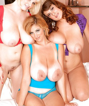 Buxom lesbian pornstar Valory Irene and girlfriends have threesome