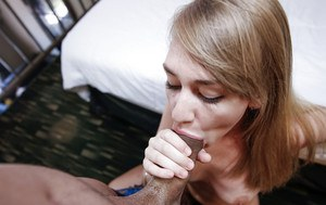 Teen first timer Iggy Amore and a large cock hookup for hardcore sex