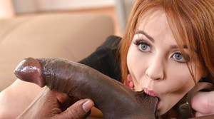 Redheaded Euro chick Timea Bela taking hardcore butt fucking from BBC