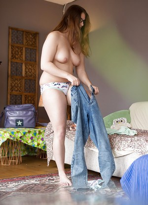 Hidden voyeur cam films chick with hairy cunt pulling jeans over bare ass