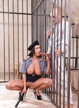 European correctional officer Patty Michova flaunting big juggs in uniform