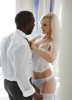European blonde Helena Valentine receiving hardcore interracial ass fucking