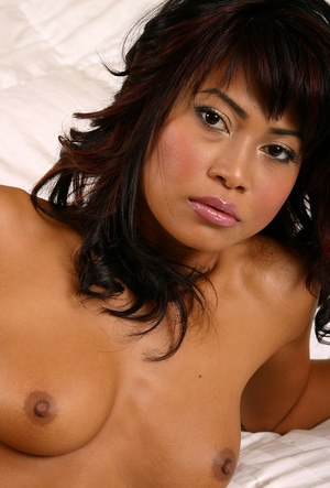 Amateur Asian solo girl in lingerie unveiling big all natural breasts