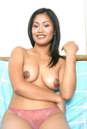 Asian first timer Apple loosing nice melons from sexy lingerie