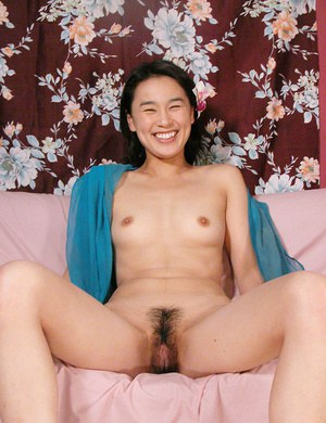 Amateur Asian Miki freeing hairy cunt and ass from panties outdoors